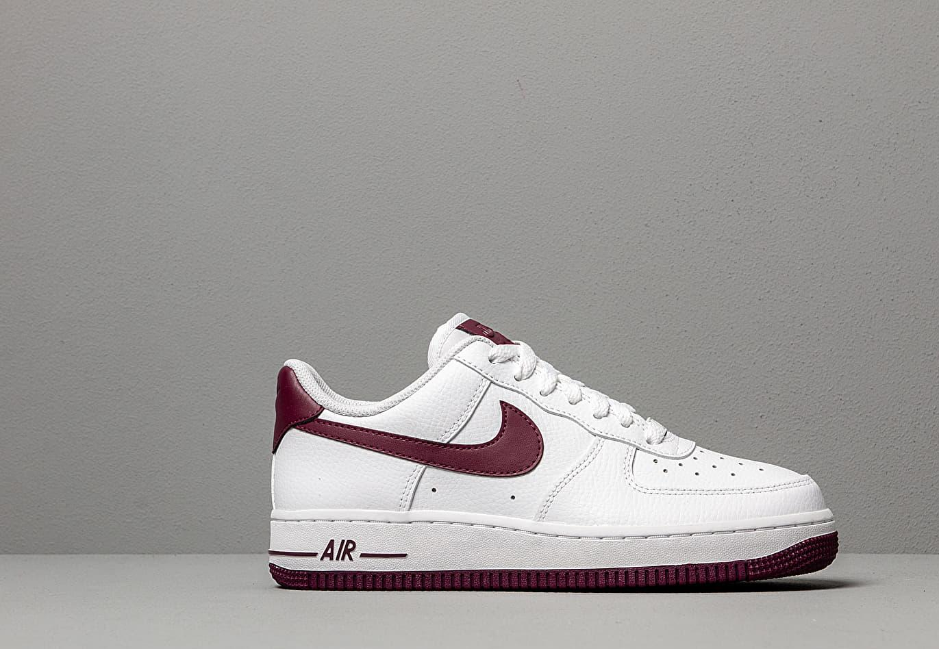 5ad29e41adc Nike Wmns Air Force 1 '07 White/ Bordeaux in White - Lyst