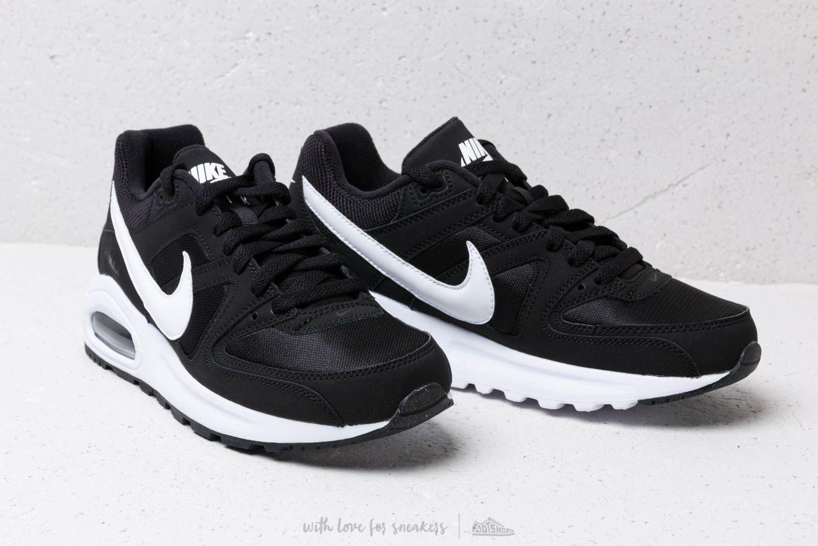 nike air max command black and white
