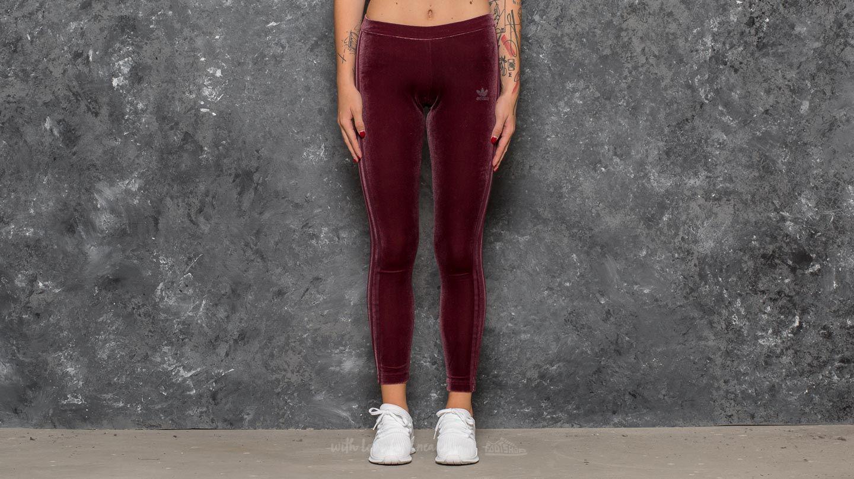 c6146bc0cb64 Adidas Originals Womens Velvet Vibes Skirt Burgundy Mid Length Trefoil  Suede Red