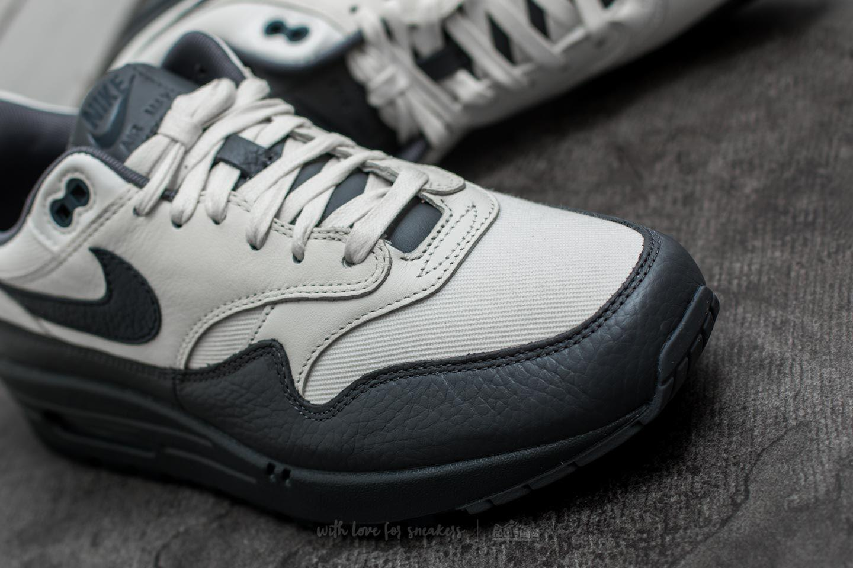 Lyst - Nike Air Max 1 Premium Sail  Dark Obsidian-dark Grey in Gray ... 91fc70e775