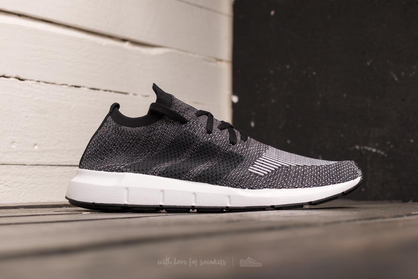 cheap for discount 5cb19 f0b69 Lyst - adidas Originals Adidas Swift Run Primeknit Core Black  Grey ...