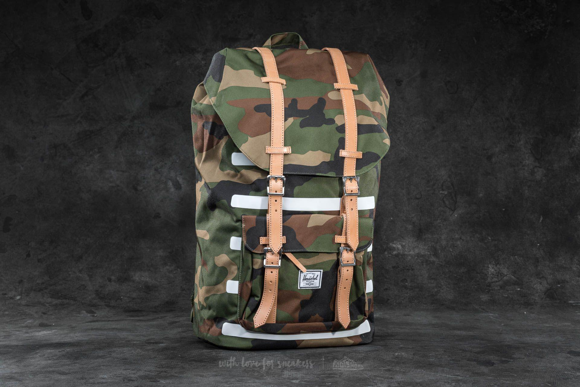 eb8db17b6765 Lyst - Herschel Supply Co. Little America Backpack Woodland Camo ...