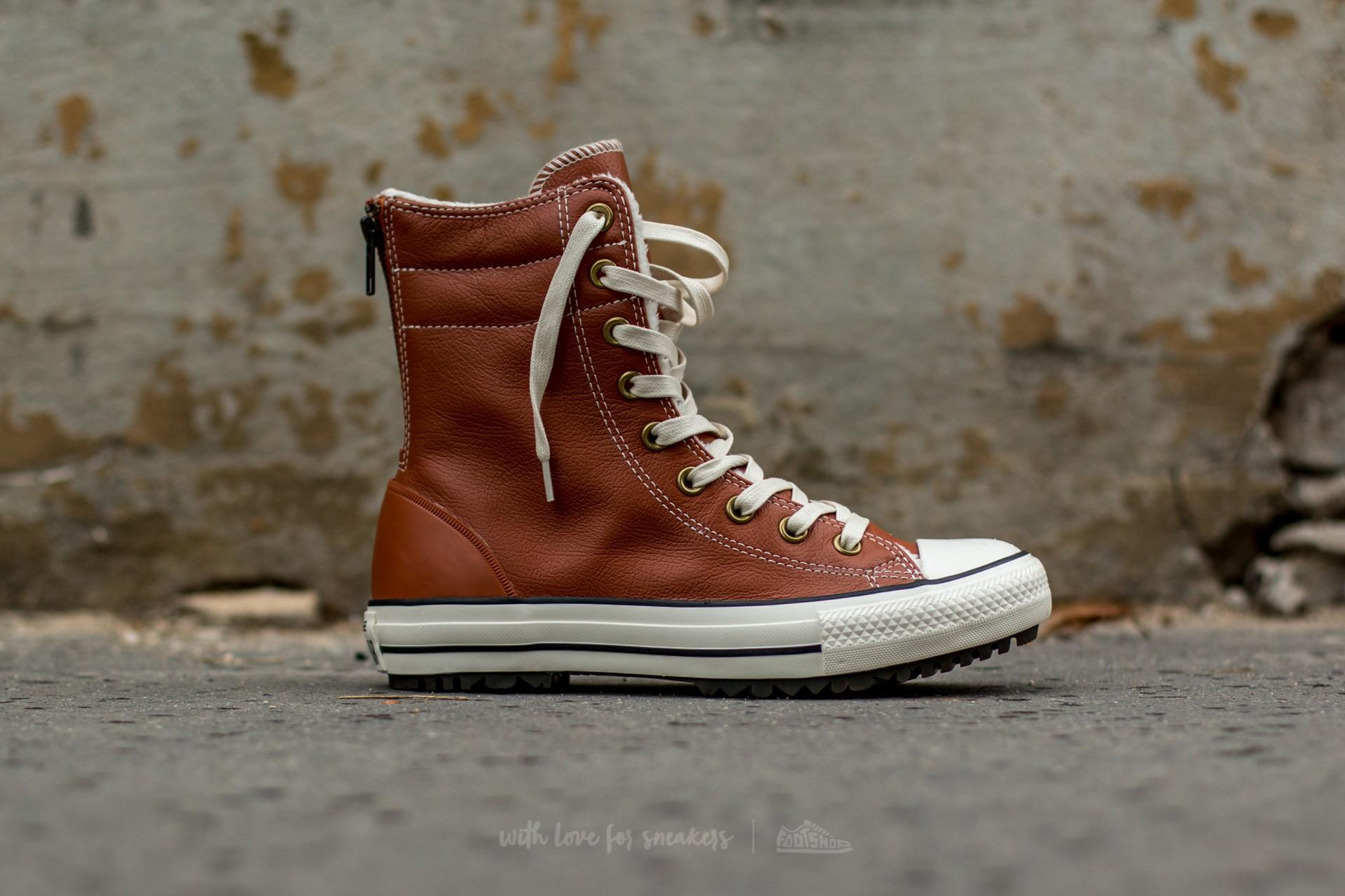 3ebb896a0b8665 Lyst - Converse Chuck Taylor All Star Hi-rise Boot Leather + Fur ...
