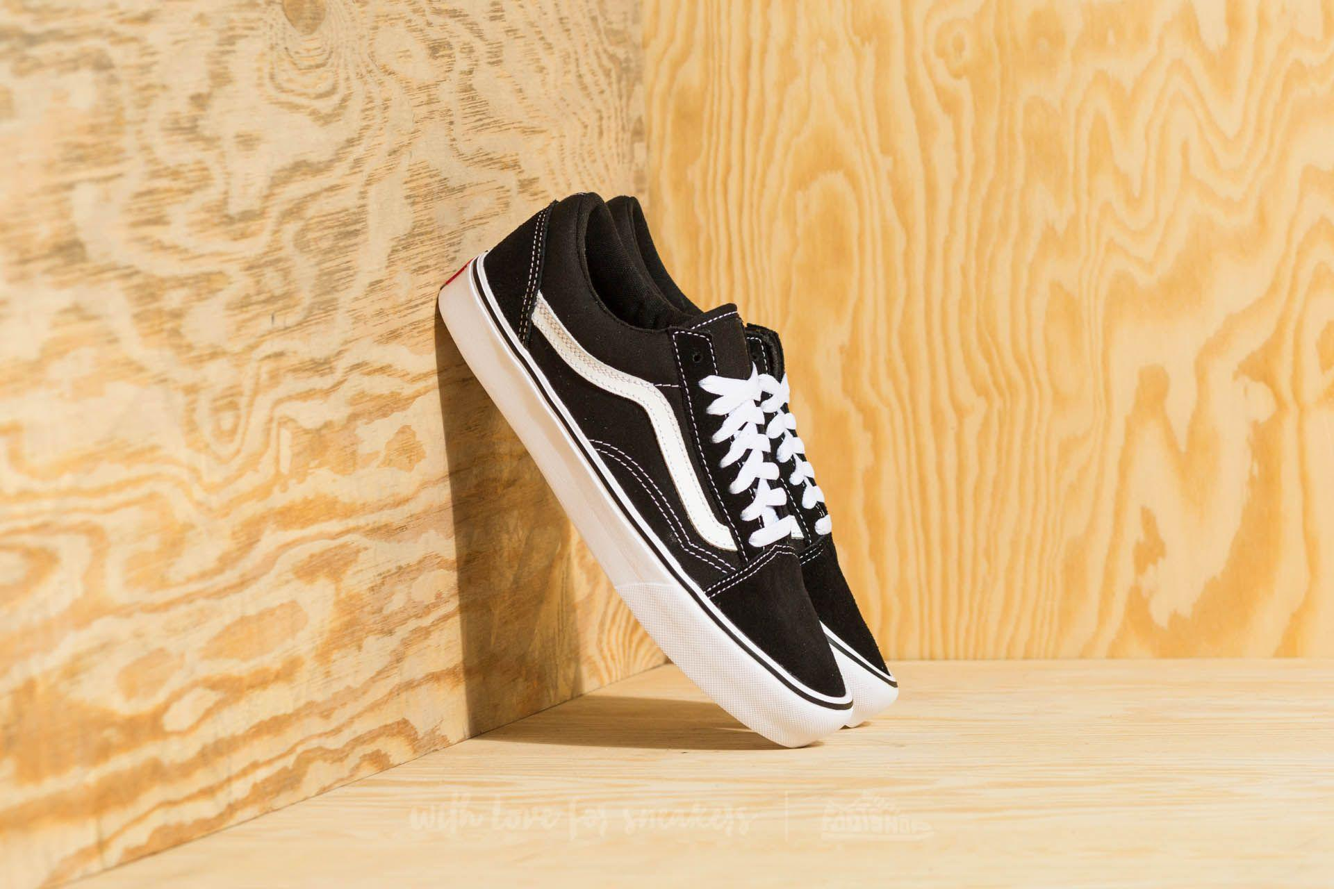 553b77db63 Lyst - Vans Old Skool Lite (suede  Canvas) Black  White in Black for Men