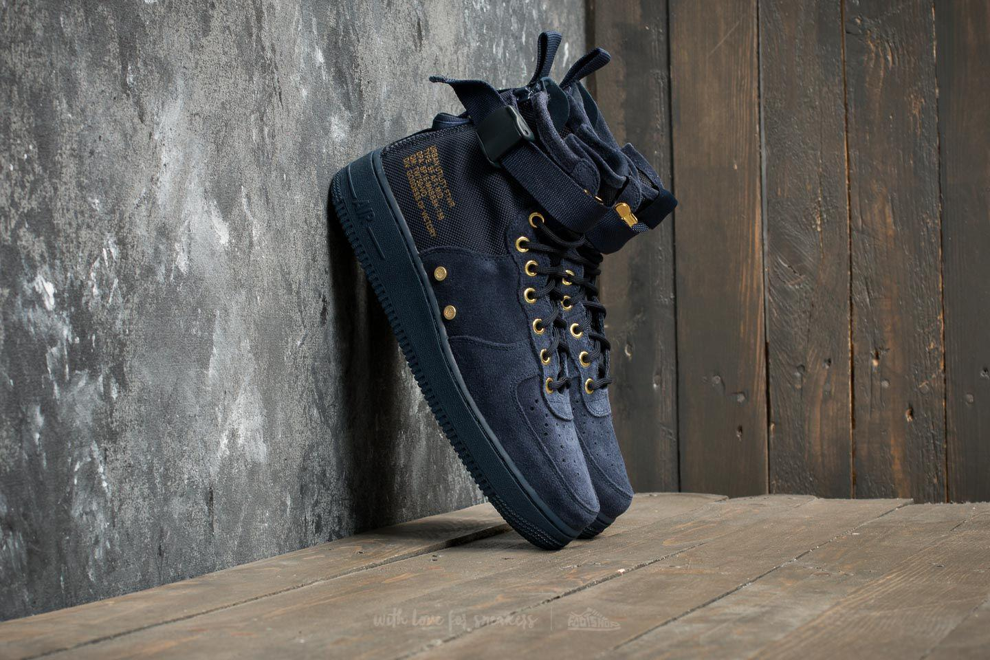 sports shoes 866b3 6bc8e Nike Sf Air Force 1 Mid Obsidian/ Obsidian/ Black in Black for Men ...