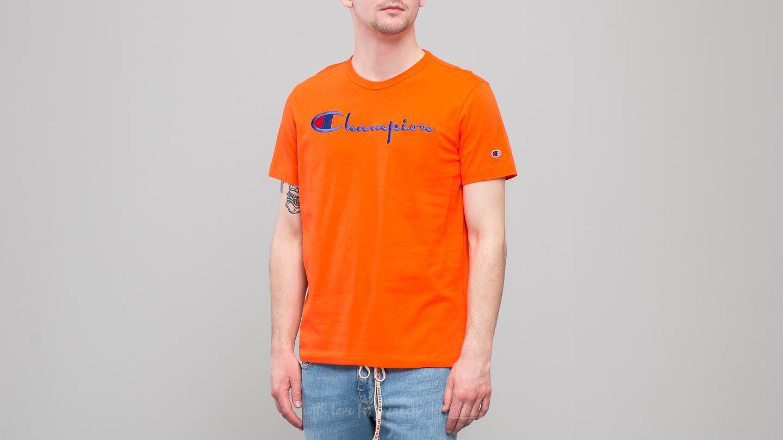 bce9e953 Lyst - Champion Crewneck T-shirt Orange in Orange for Men
