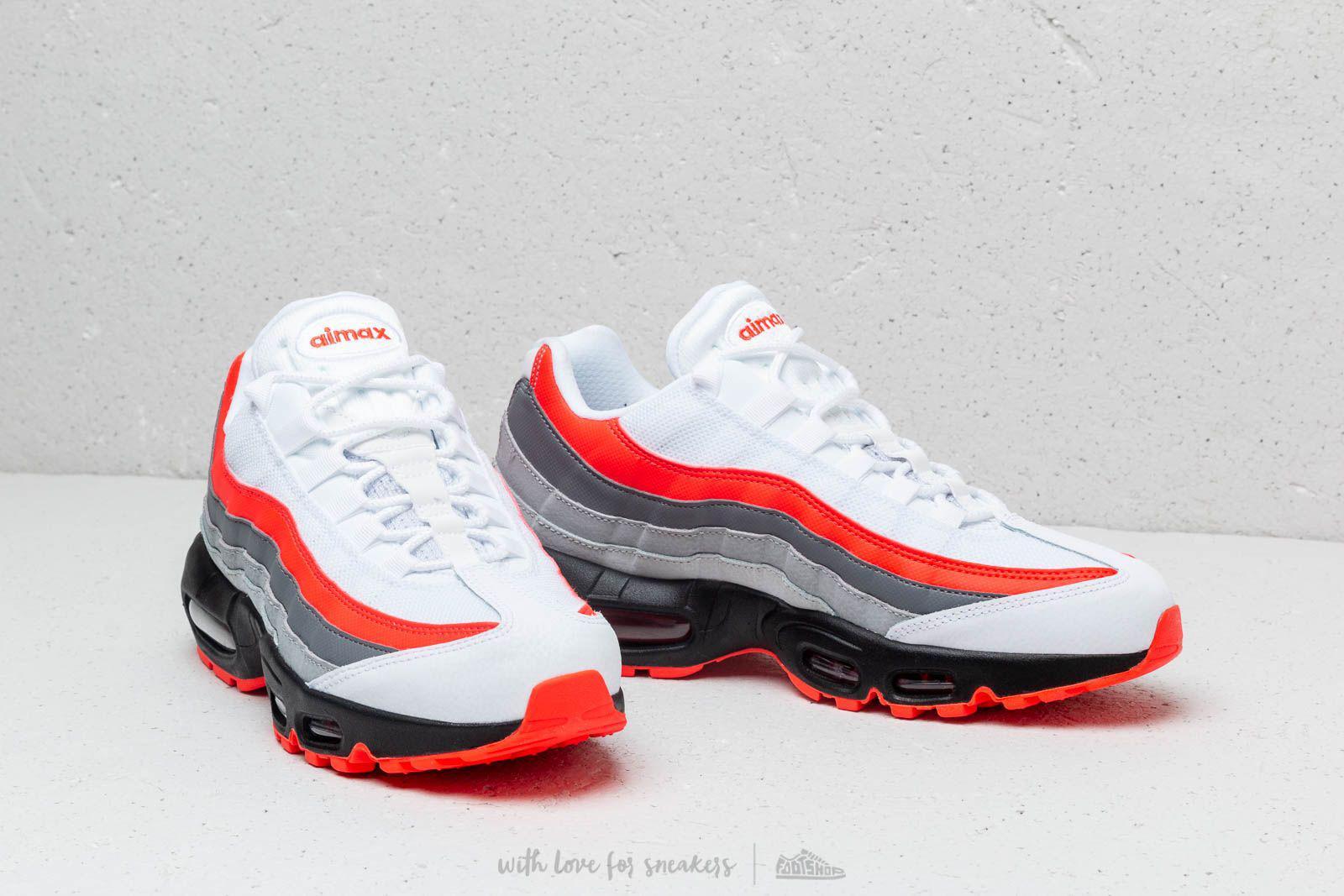Nike Air Max 95 Essential White, Crimson, Black & Grey  END.