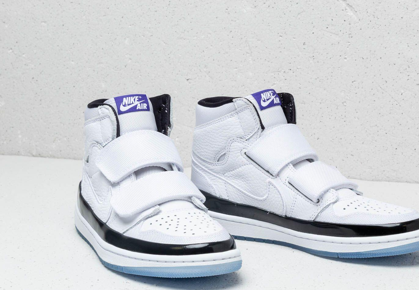 new product 01f49 54ee7 Nike - Air 1 Retro High Double Strap White  Dark Concord-black for Men. View  fullscreen