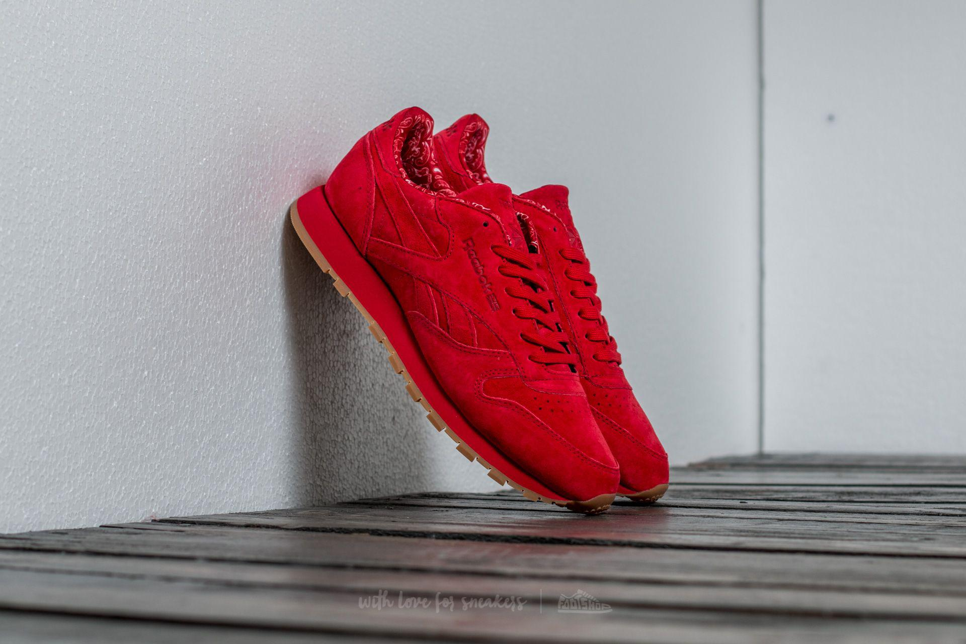 Lyst - Reebok Classic Leather Tdc Scarlet  White-gum in Red for Men b83856bca