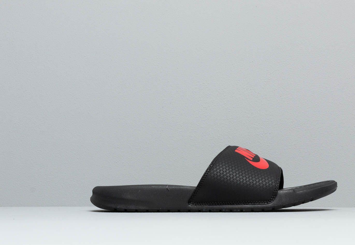 fc0d039016a8 Lyst - Nike Benassi Jdi Black  Challenge Red in Black for Men - Save 36%