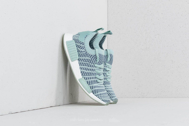 lyst adidas originali adidas nmd r1 stlt primeknit w ash green