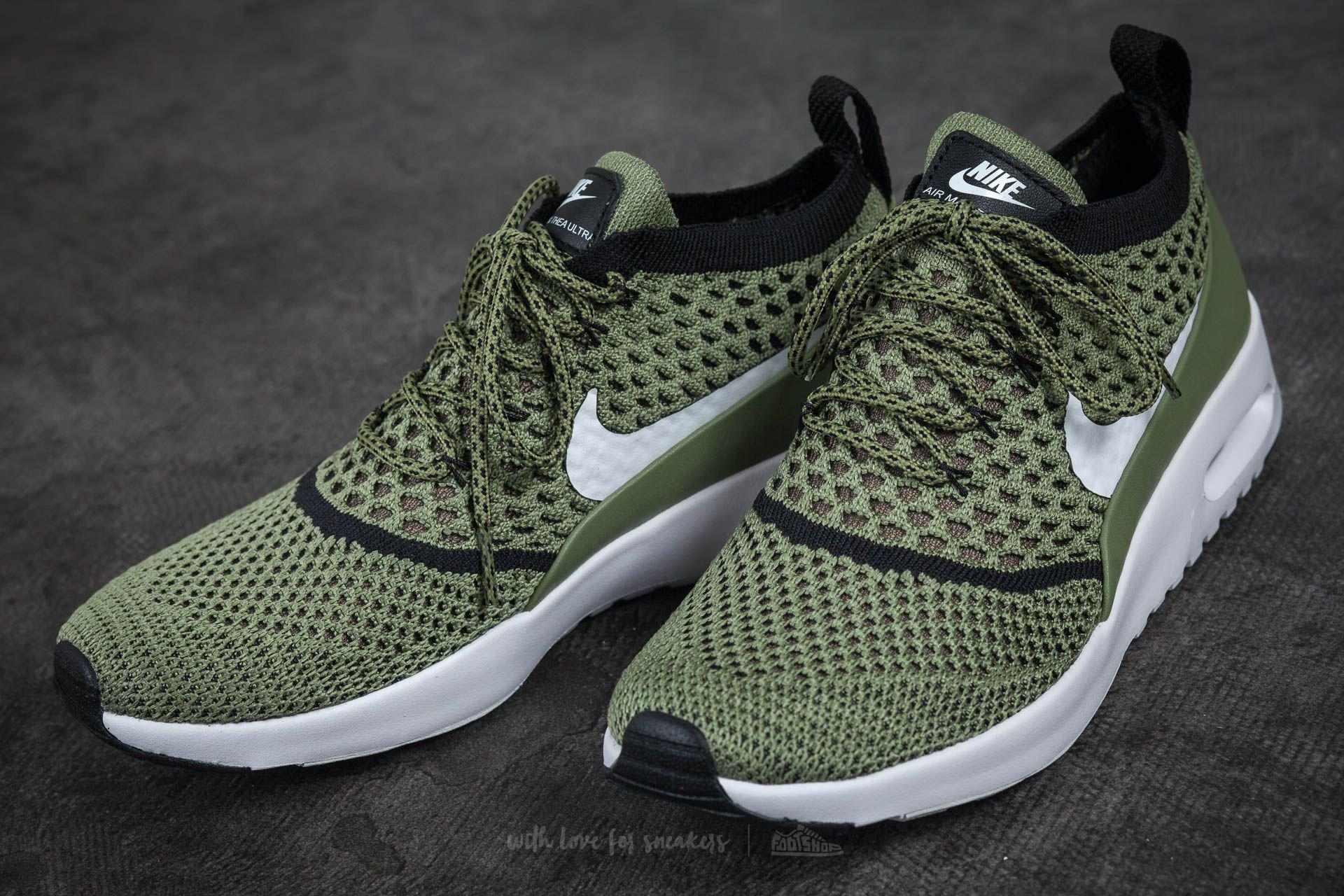 Nike Wmns Air Max Thea Ultra Flyknit Palm Green White black