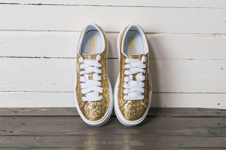 puma basket guld glitter cheapest 7c28d