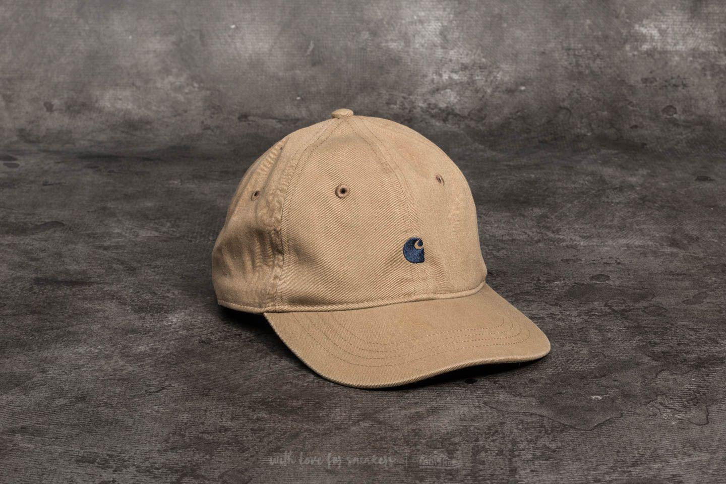 3ee3bcc764303a ... best price lyst carhartt wip madison logo cap leather navy for men  3ff42 da490
