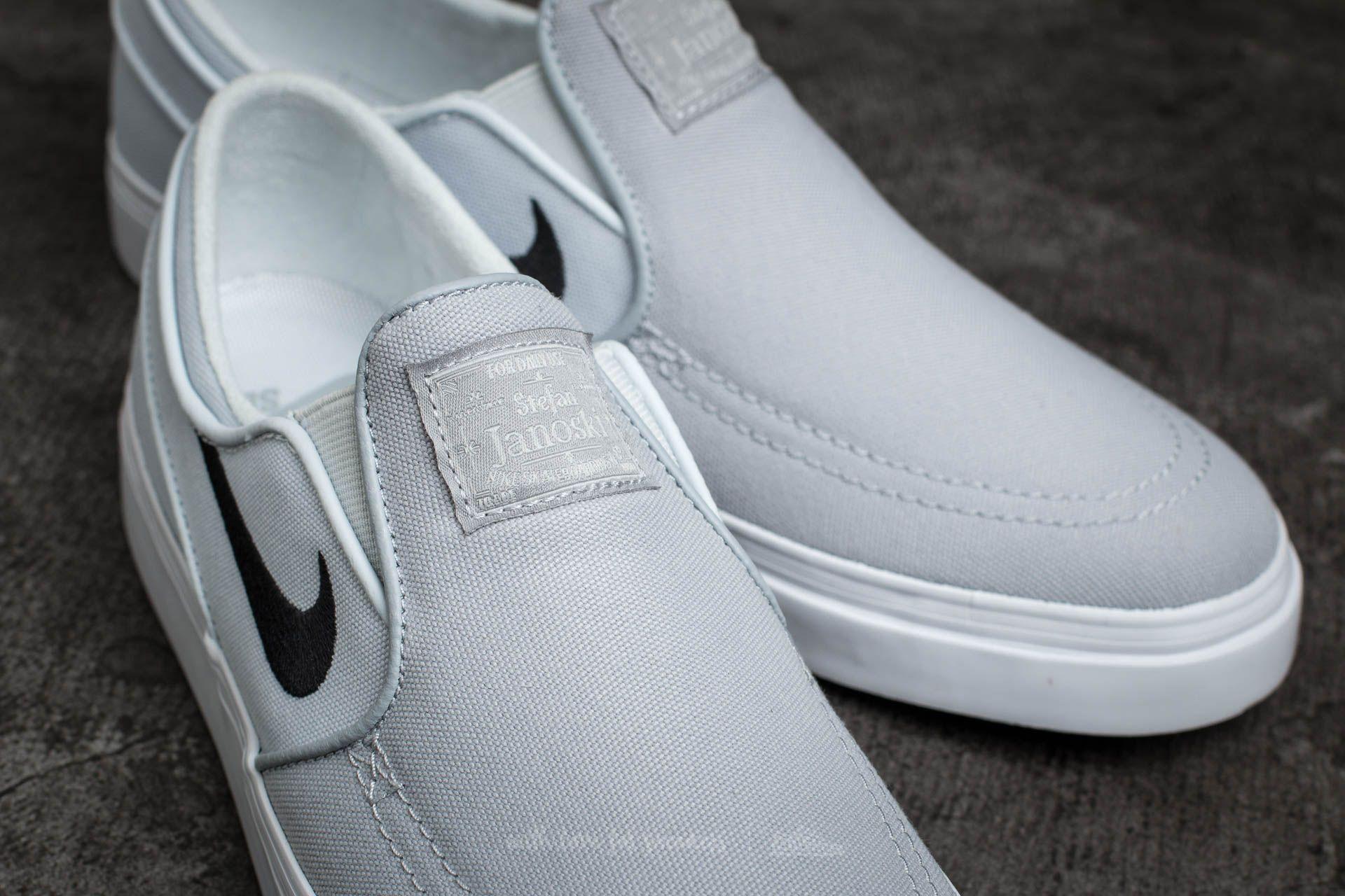 0841ce25207fdc Lyst - Nike Zoom Stefan Janoski Slip Cnvs Wolf Grey  Black-pure ...