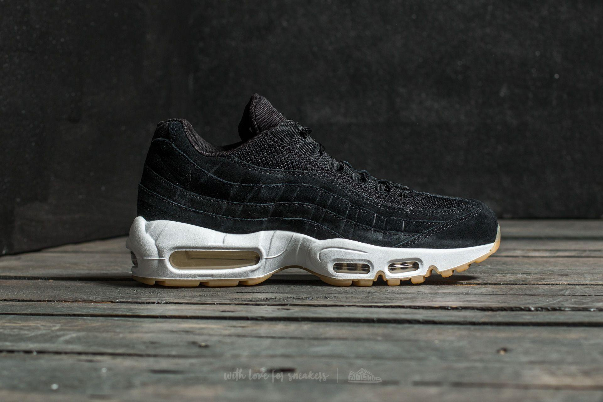 on sale 65260 6ca22 Nike Air Max 95 Premium Black  Black-muslin-white in Black for Men ...