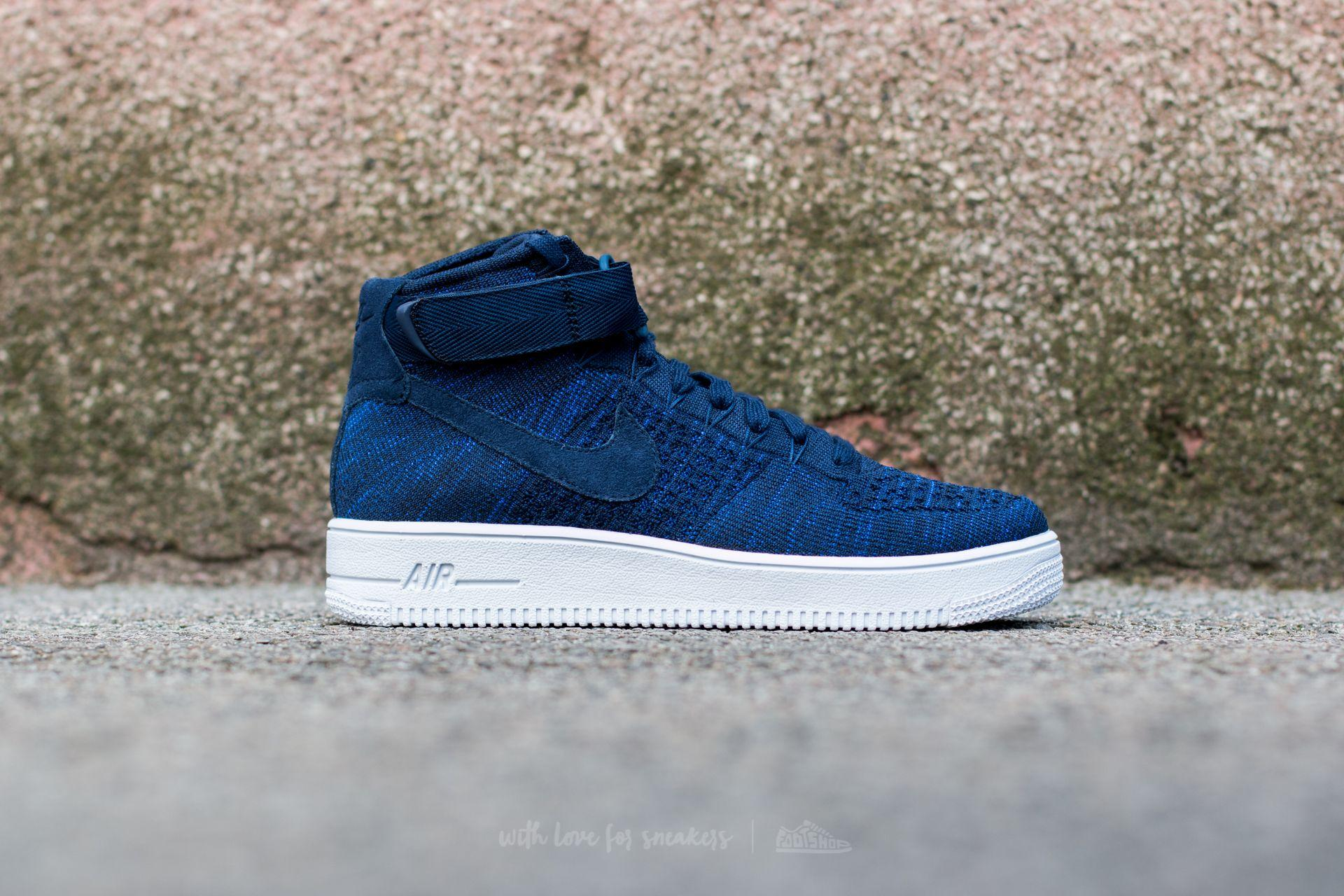 Lyst - Nike Air Force 1 Ultra Flyknit Mid College Navy  College Navy ... 0415d840f