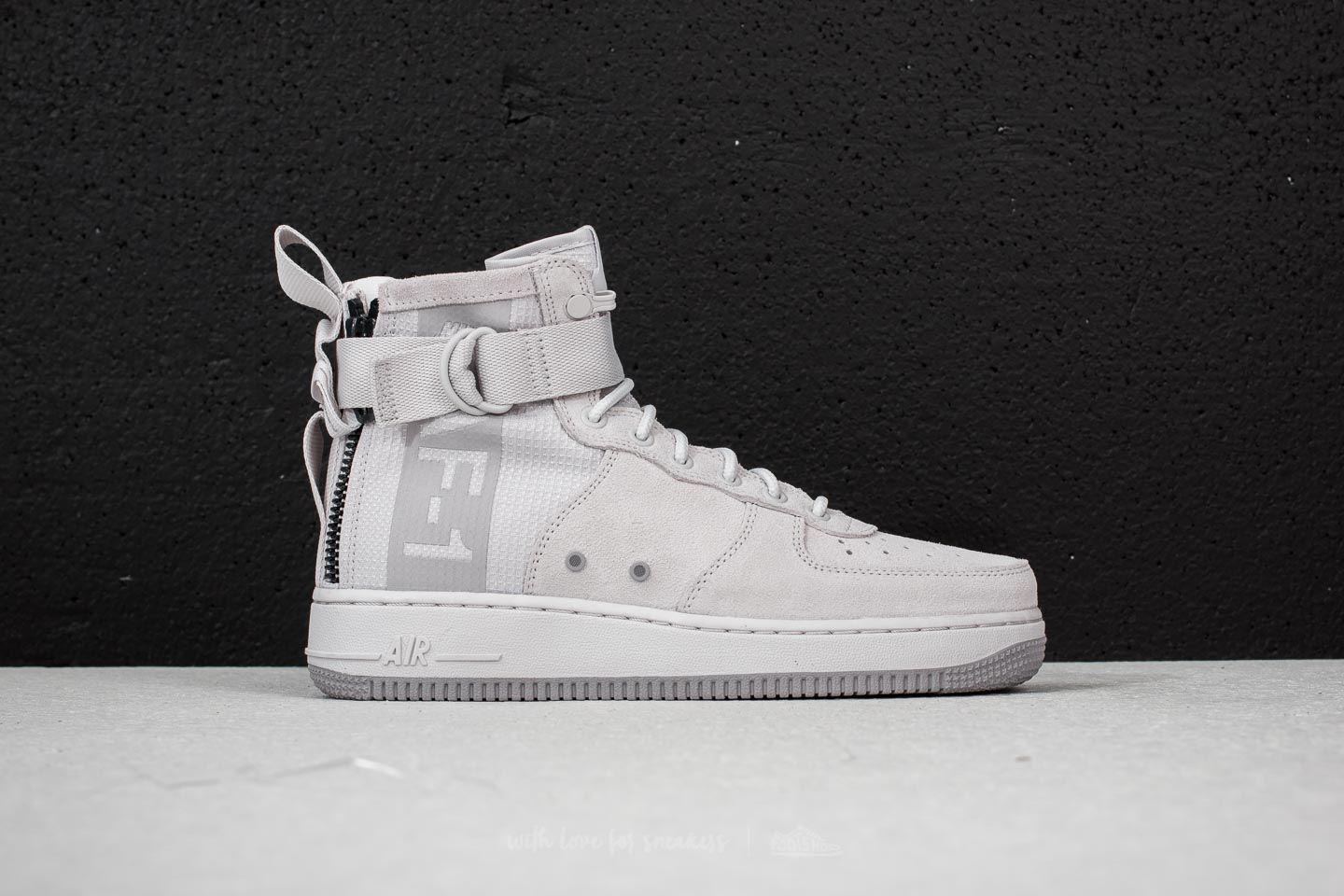 official photos b5abb e953a ... closeout nike gray sf air force 1 mid suede vast grey atmosphere grey  for men.