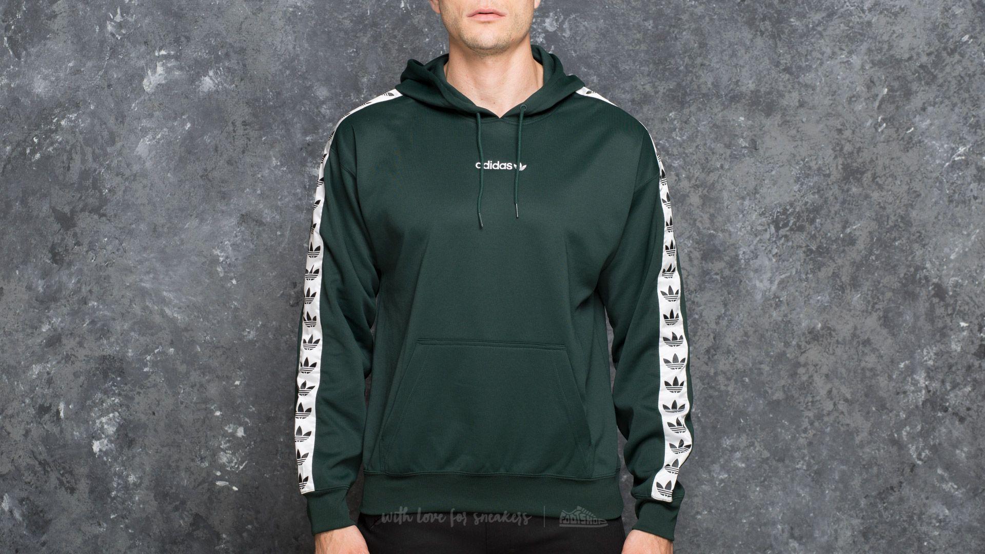 Men's Adidas Tnt Tape Hoody Green Night White