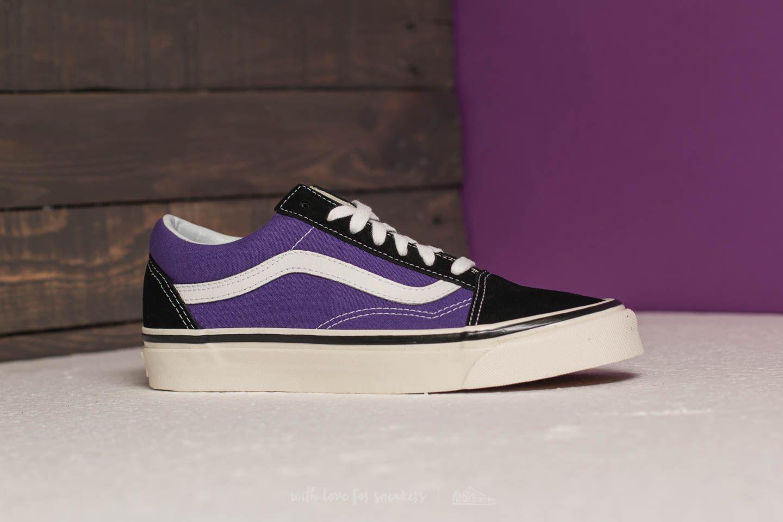 vans old skool purple black