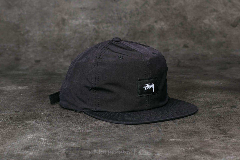 31d014968a7 Lyst - Stussy Stock Label Strapback Cap Black in Black for Men