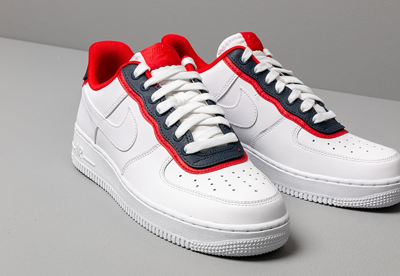 fashion new high nice cheap Air Force 1 '07 Lv8 1 White/ White-obsidian-university Red