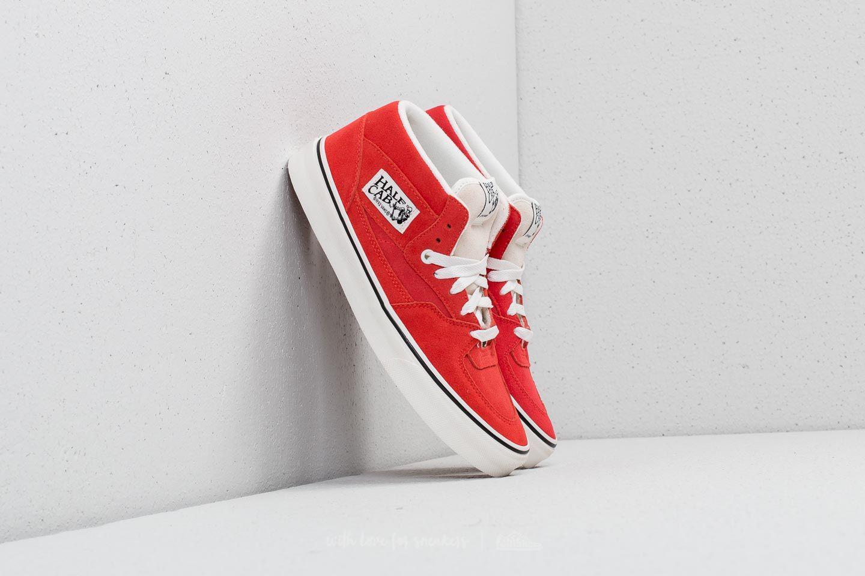 f80fa7fcea Lyst - Vans Half Cab (suede) Hibiscus  True White in Red for Men