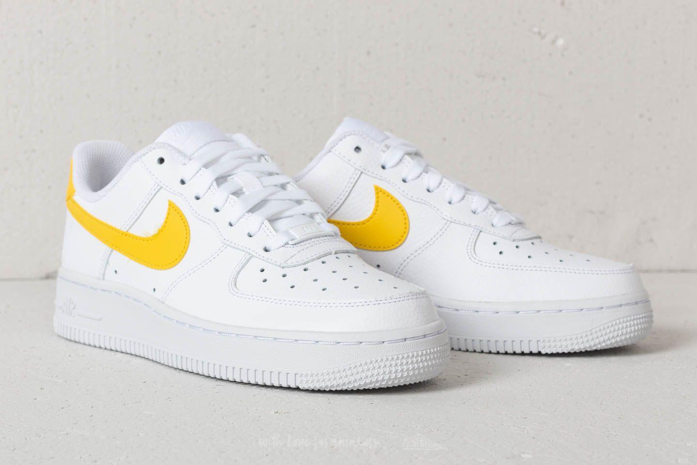 Nike Wmns Air Force 1 '07 White Vivid Sulfur white