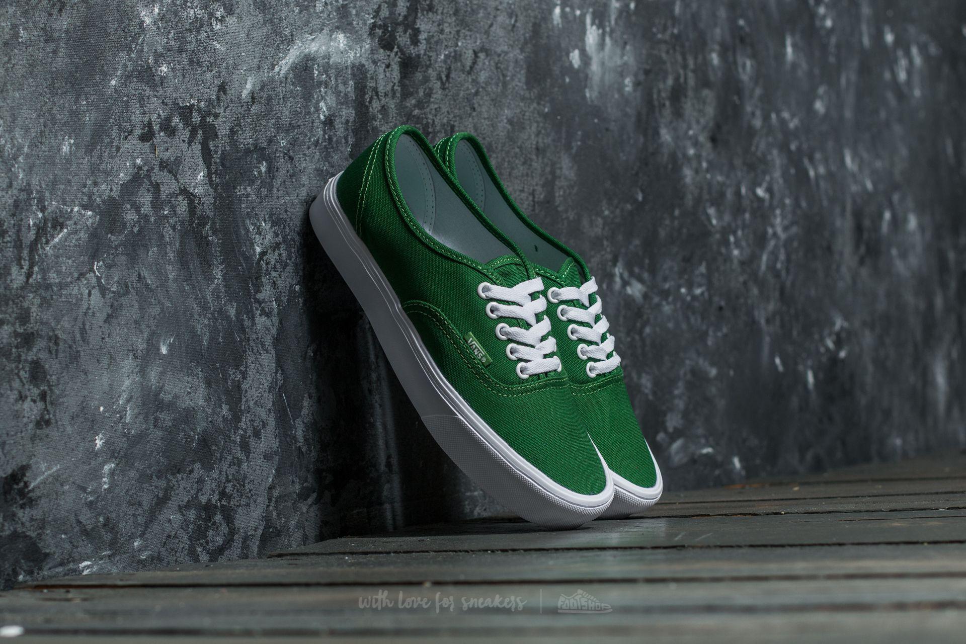 Lyst - Vans Authentic Lite (canvas) Juniper  True White in Green for Men 7c243fc43