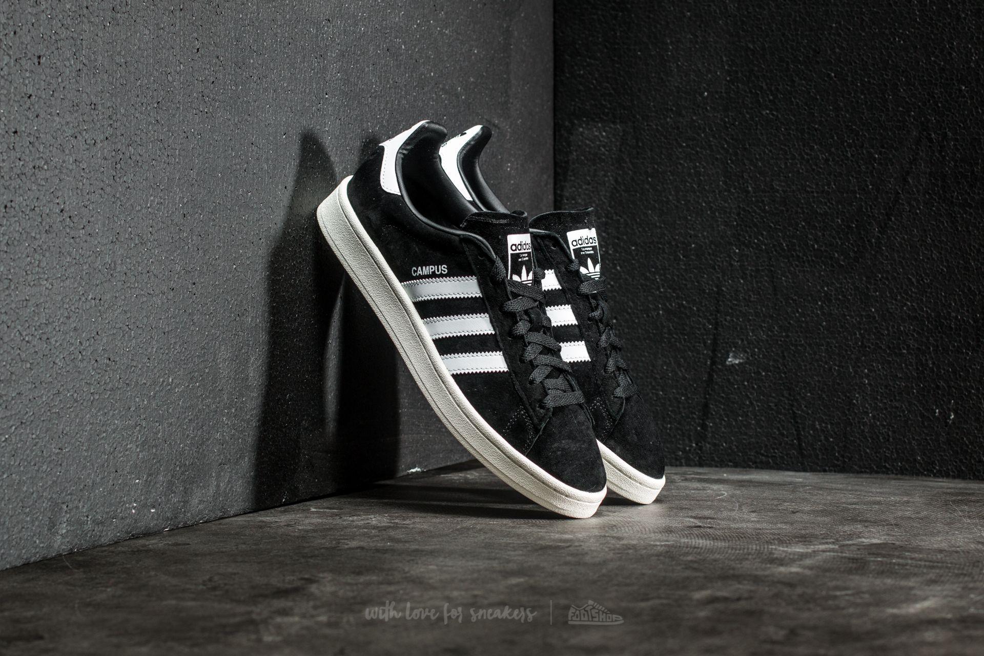 sports shoes 57b15 978d6 adidas Originals. Mens Adidas Campus Core Black Ftw White Chalk White