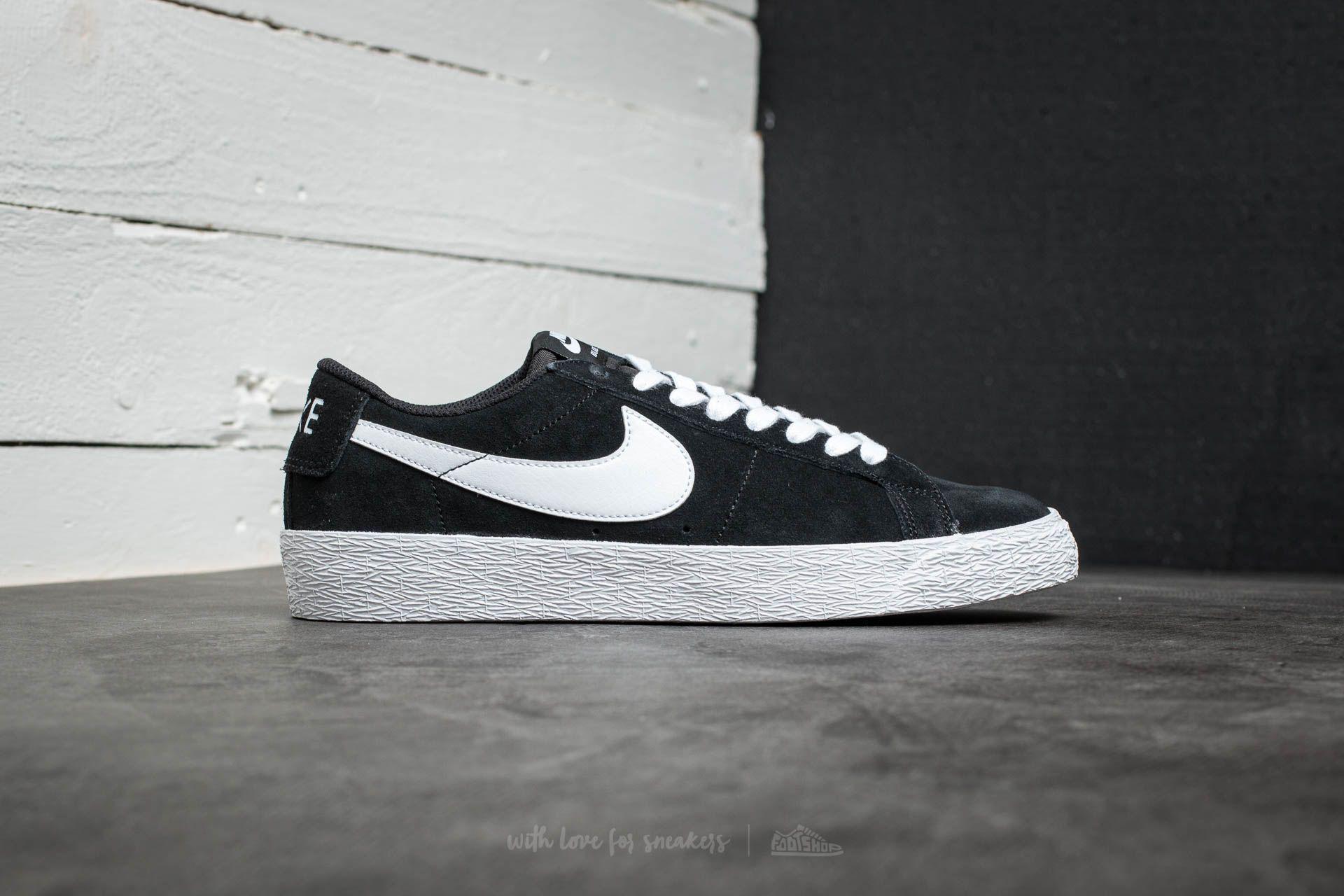 Nike Sb Blazer Zoom Low Skateboarding Shoe in Black for Men - Lyst