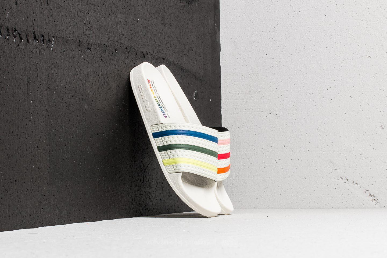 adidas Originals ADILETTE PRIDE - Pool sliders - core white/trace pink/trace orange jyB5V