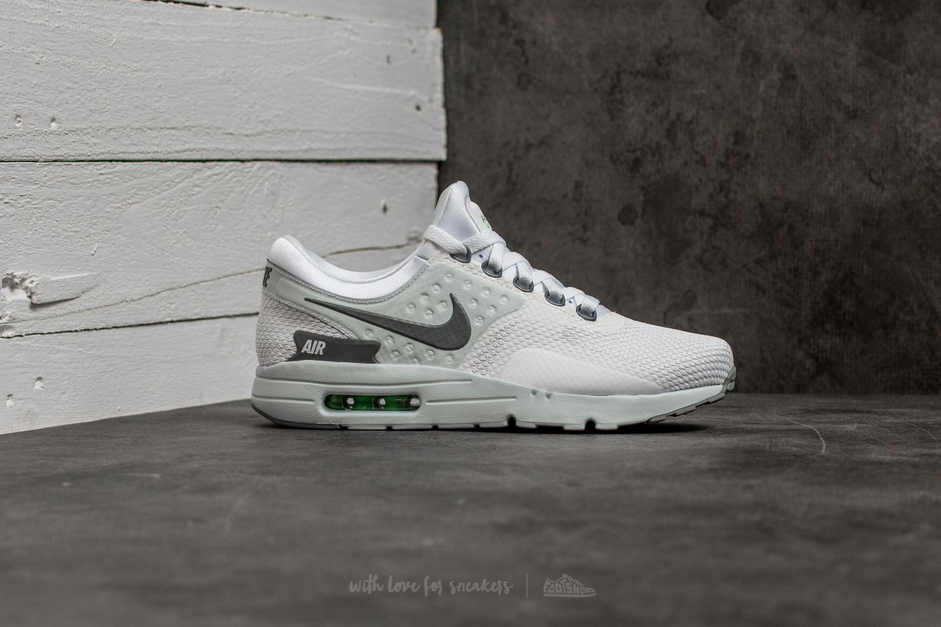 huge selection of 9dc26 349d2 Nike Air Max Zero Essential White  Cool Grey-pure Platinum in Gray ...