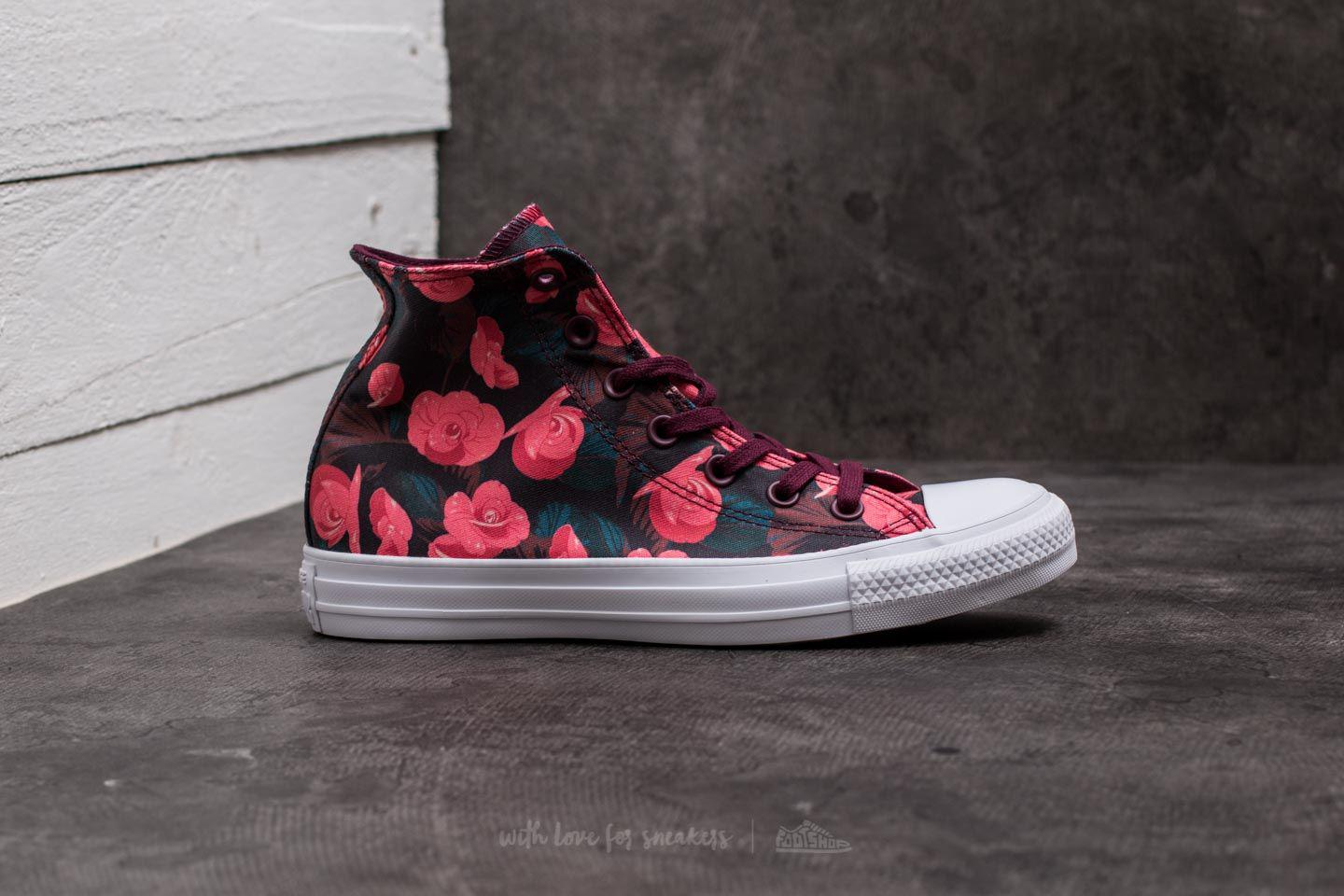 be8e537d94ee97 Lyst - Converse Chuck Taylor All Star Hi Dark Sangria  Pink  White