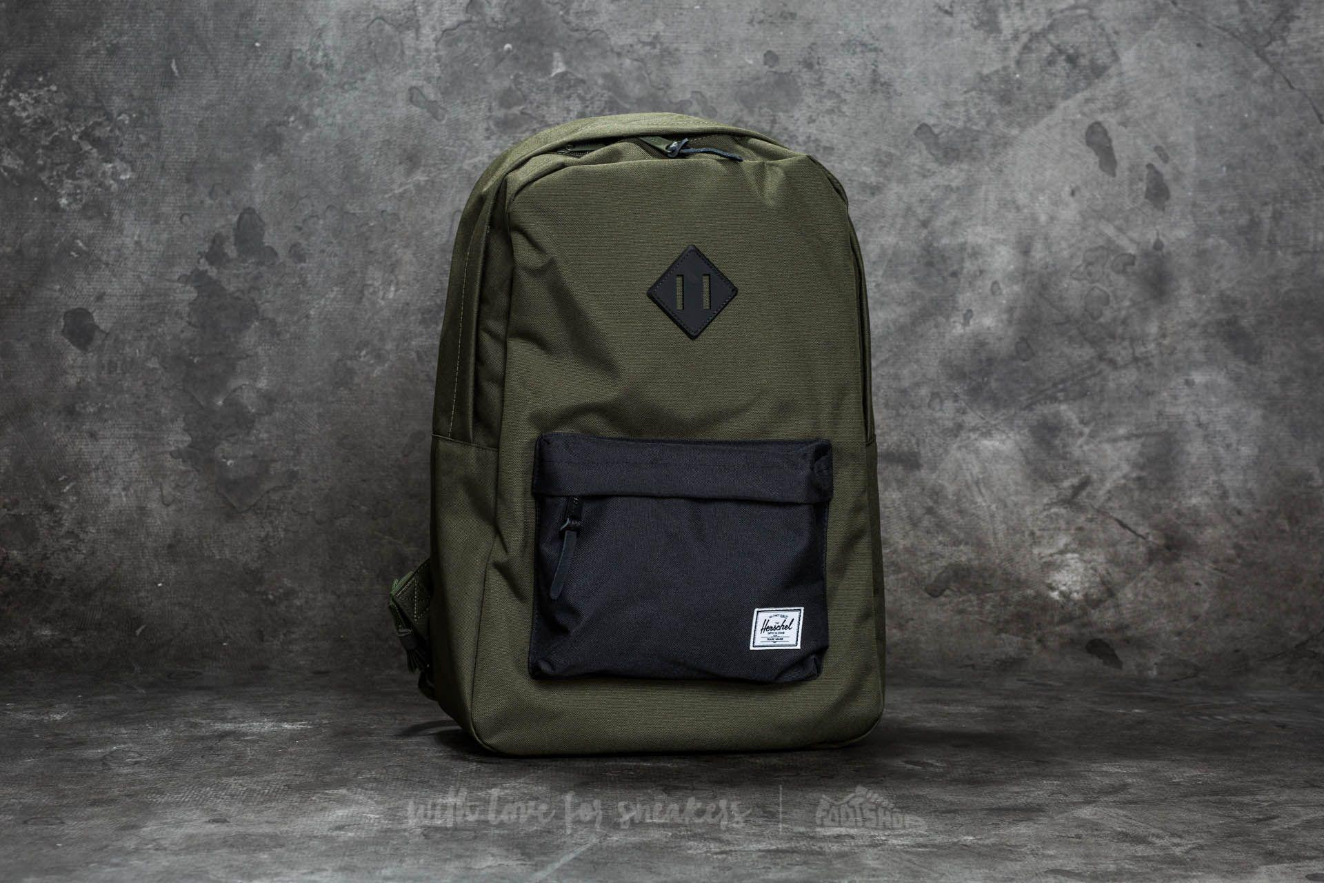 42a922727fa Lyst - Herschel Supply Co. Heritage Backpack Forest Night  Black ...