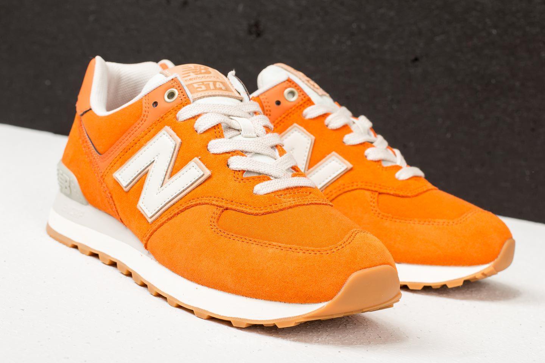 New Balance Suede 574 Burnt Orange/ Moonbeam for Men - Lyst