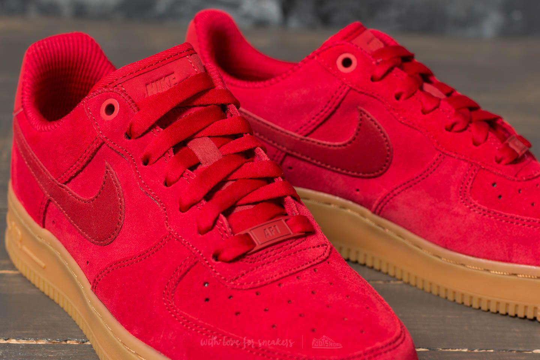 nike air force 1 se sneaker red