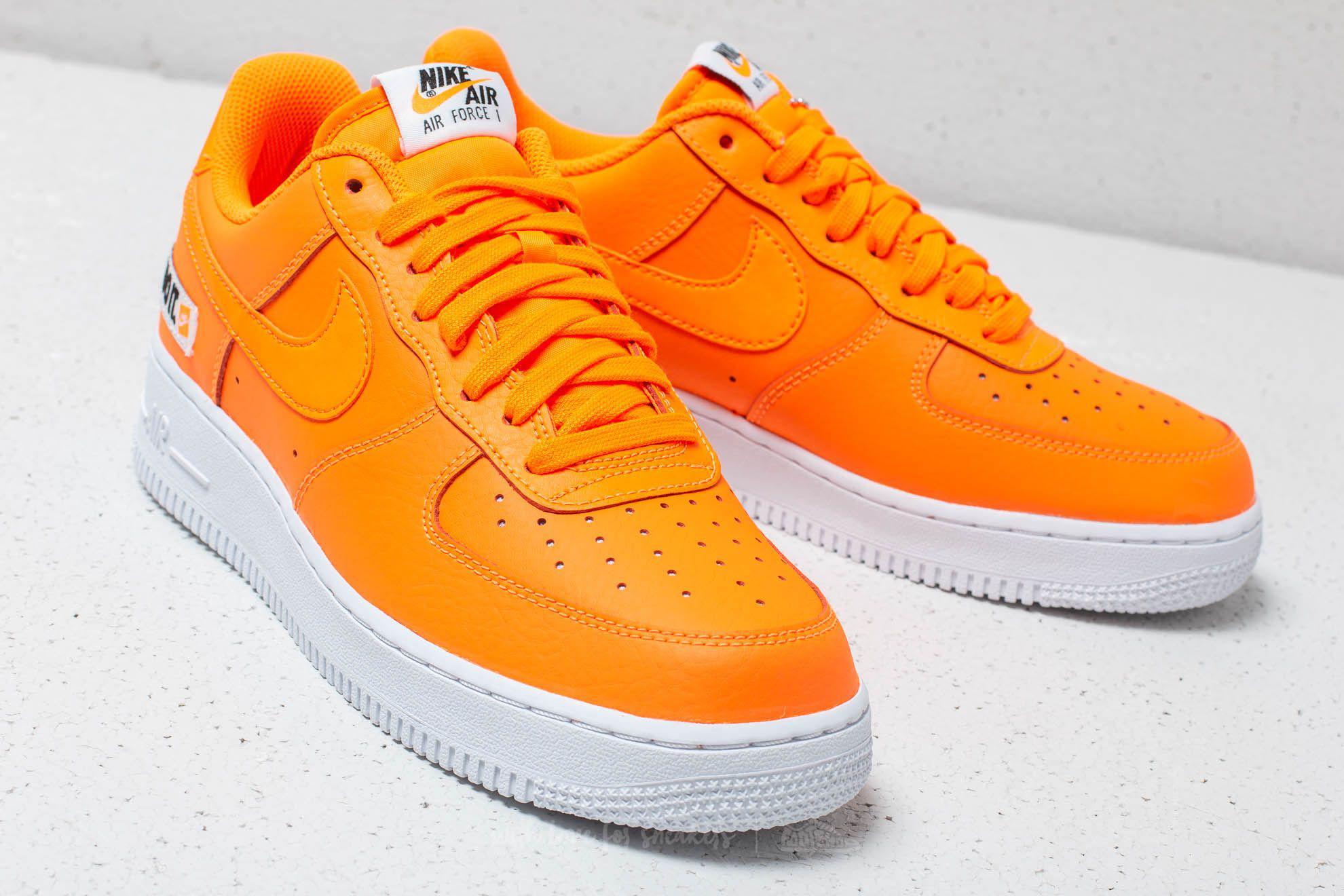competitive price cd1e6 d2e05 Nike Air Force 1 ́07 Lv8 Jdi Leather Total Orange  Total Orange in ...