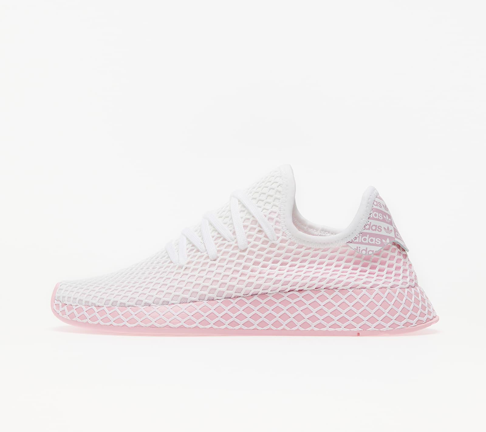 adidas deerupt runner white pink