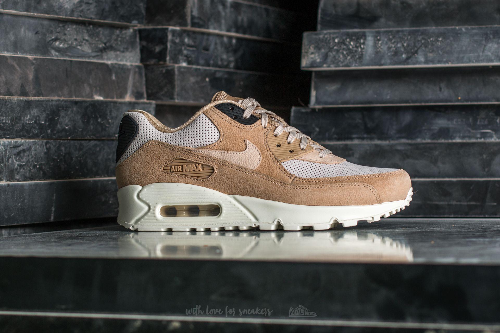 Nike Leather Wmns Air Max 90 Pinnacle Mushroom/ Oatmeal-light Bone ...