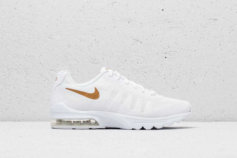 Nike Rubber Air Max Invigor (gs) White/ Metallic Gold - Lyst