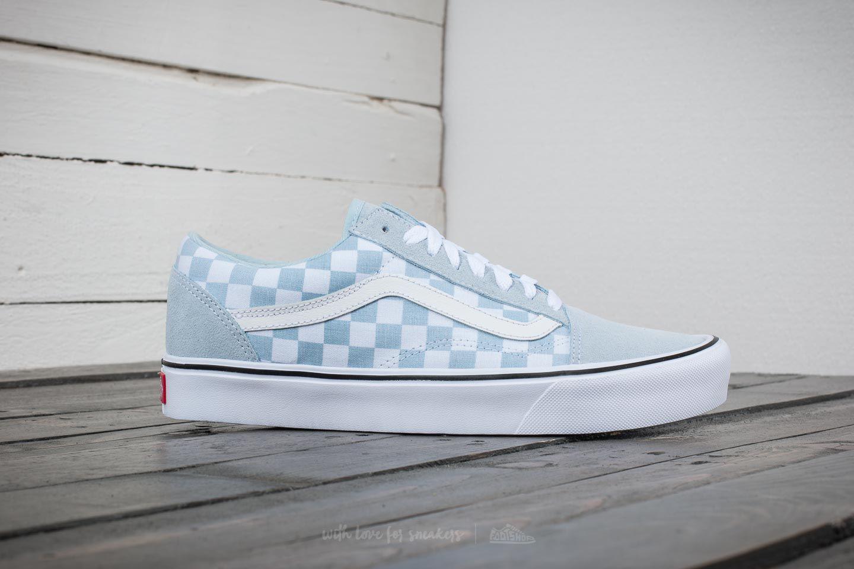 vans old skool checkerboard baby blue