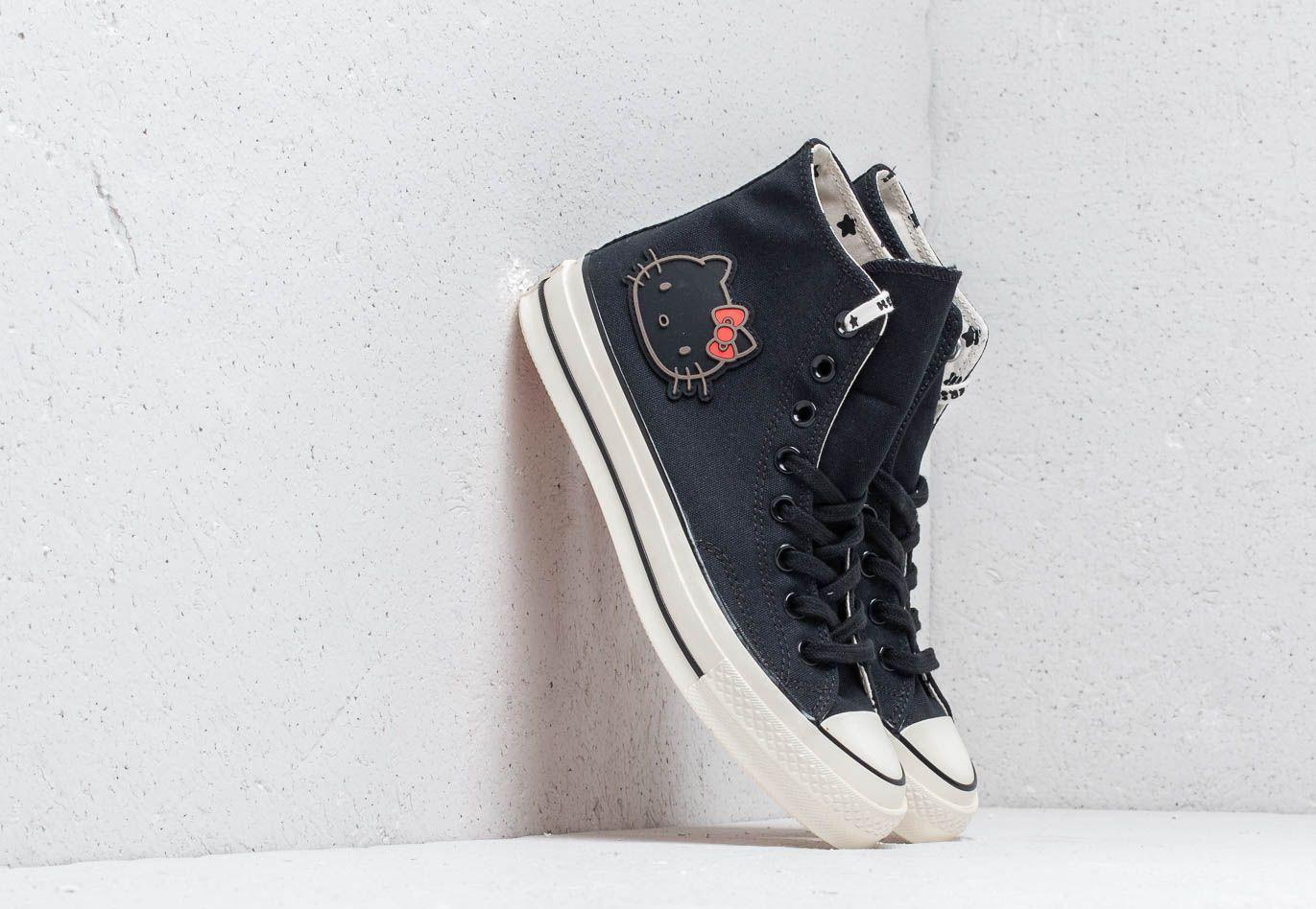 e1234f48a563 Lyst - Converse X Hello Kitty Chuck 70 Hi Black  Black  Egret in ...