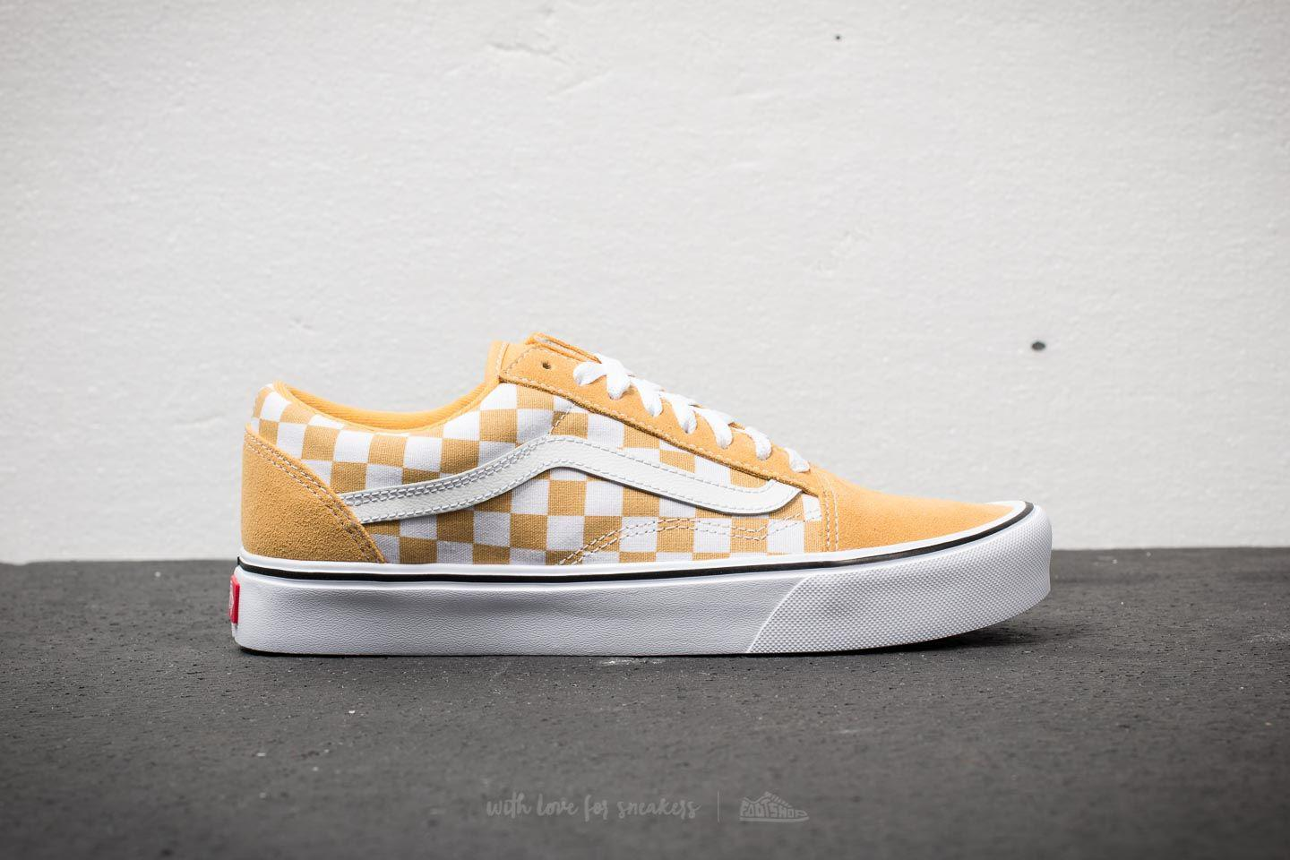 1c3173d2e24 Lyst - Vans Old Skool Lite (suede Canvas) Ochre  True White in White ...