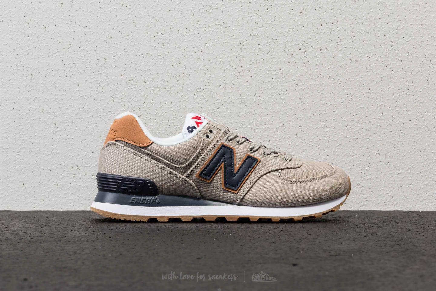 New Balance Suede 574 Stone Grey in