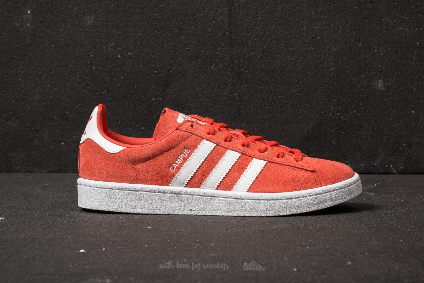 new concept 7ddc4 dcf61 Lyst - adidas Originals Adidas Campus Trace Scarlet Ftw Whit