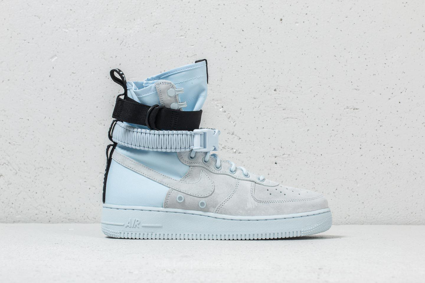 Nike Leather Sf Air Force 1 Blue Tint