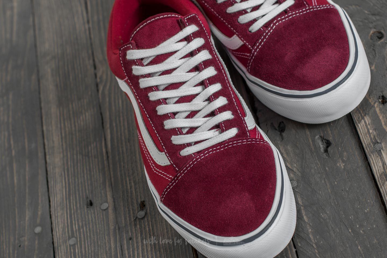vans old skool tibetan red leather