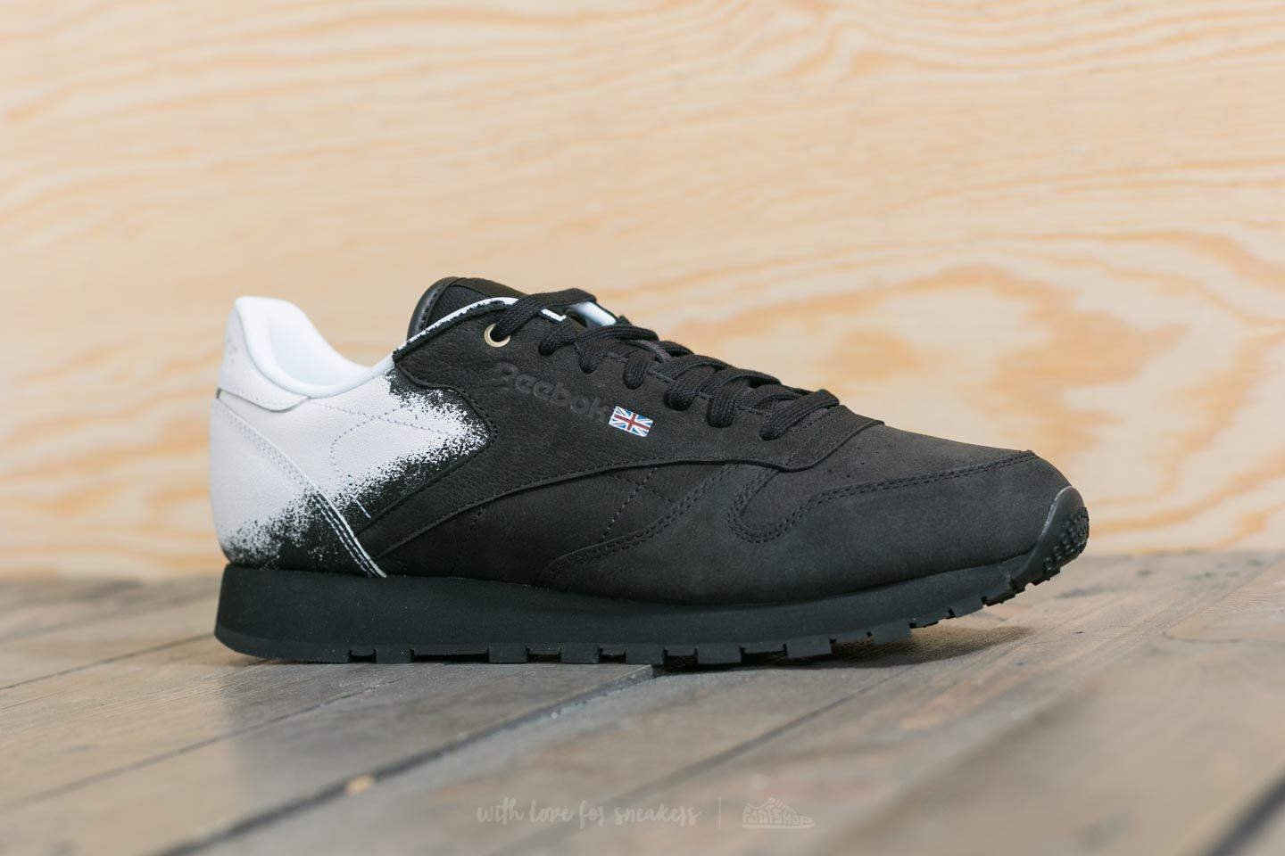 Lyst - Reebok Reebok X Montana Cans Classic Leather Black  White in ... 6c2abc644