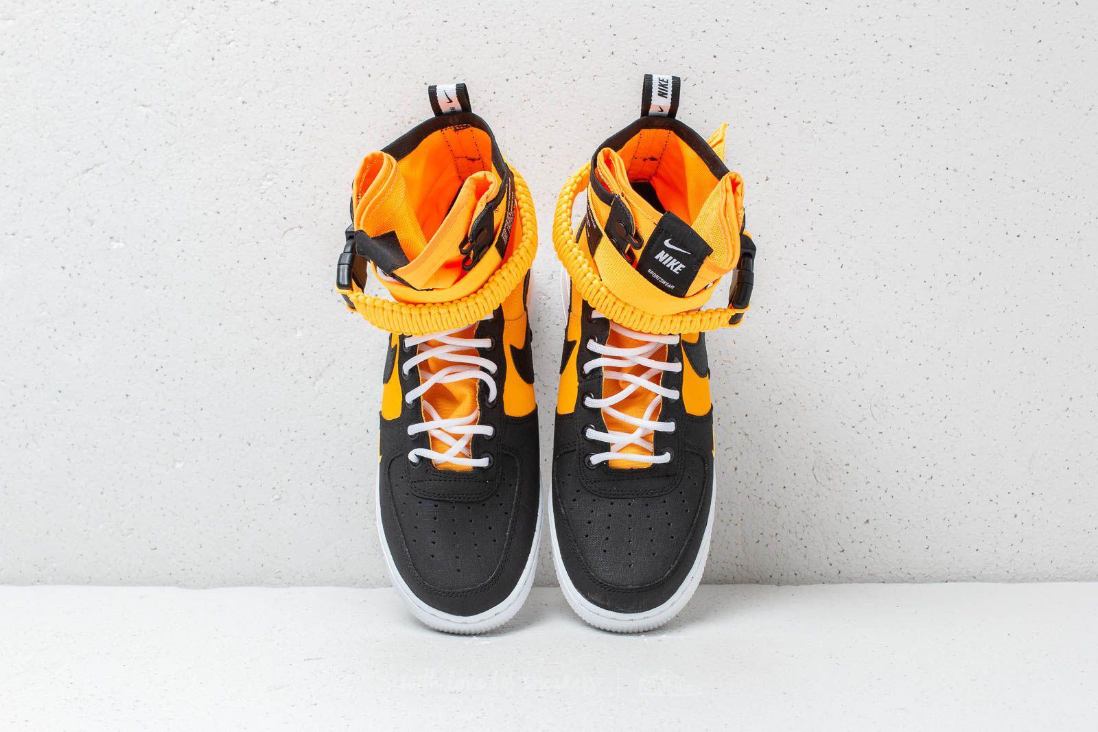 Nike Rubber Sf Air Force 1 Laser Orange/ Black-white High-top ...